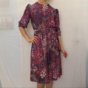 Vintage Lady Carol of NY Floral Blouson Dress